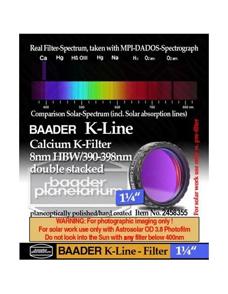 "Baader K-Line Filter stacked 1,25"" incl. 3.8 AstroSolar Photo Film - 2"