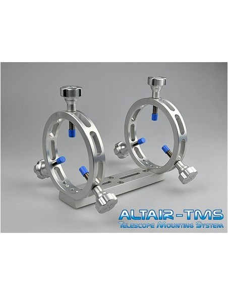 Altair TMS Ultra Light 100mm Guide Scope Rings (no Dovetail)