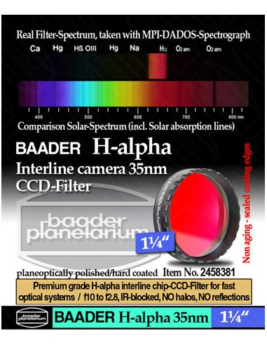 "Baader H-alpha 35nm CCD Filter 1,25""..."