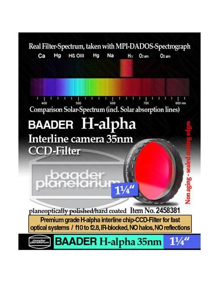"Baader H-alpha 35nm CCD Filter 1,25"" - 2458381"