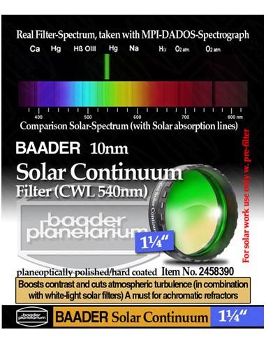 """Baader 1,25"""" Solar Continuum Filter..."""