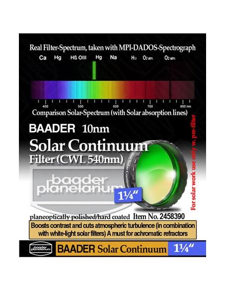 "Baader 1,25"" Solar Continuum Filter (540nm) - 2458390"