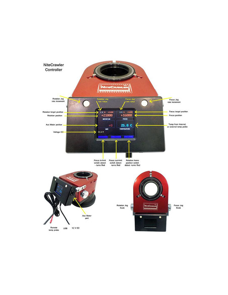 Moonlite NightCrawler WR35 3.5 inch Dual-Axis Rotator and Focuser - 4
