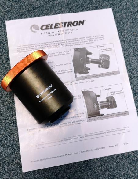 Celestron T-adapter for Celestron EdgeHD Telescopes - OCCASION