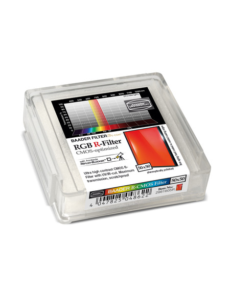 Baader RGB-R 50x50mm Filter - CMOS-optimized - 2961605R - 2