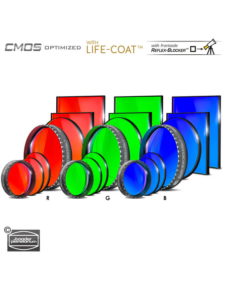 Baader RGB 65x65mm Filterset - CMOS-optimized - 2961606 - 2