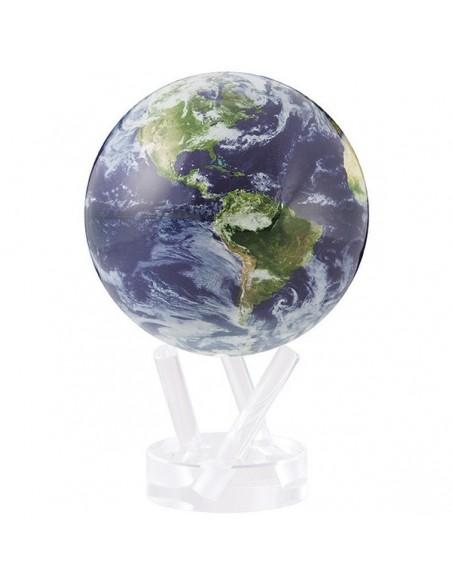 Mova Globe 4,5 inch Earth Satellite View Globe that rotates freely - 2