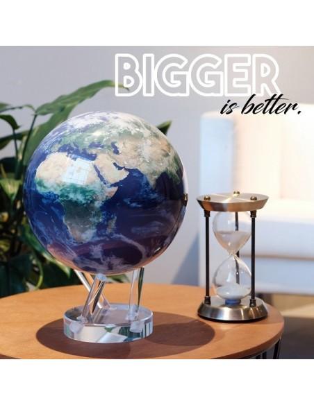 Mova Globe 4,5 inch Earth Satellite View Globe that rotates freely - 4